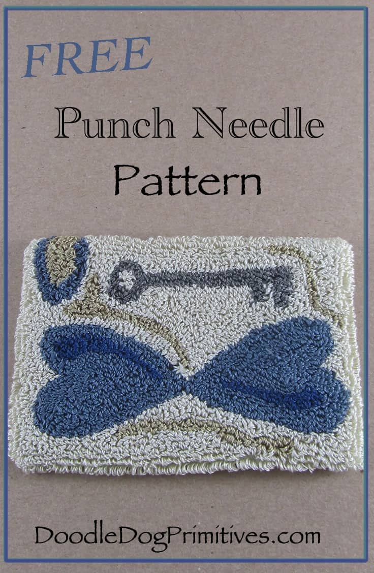 Key to My Heart Punch Needle Pattern