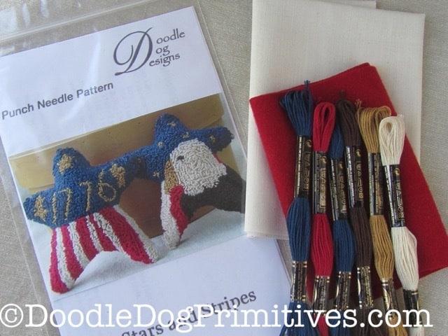 Stars & stripes punch needle kit