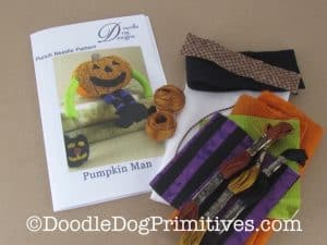 Pumpkin Man Punch Needle Kit