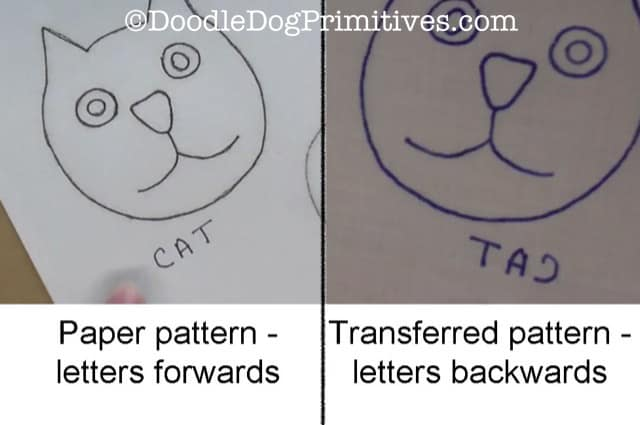 Direction of Letters on patterns