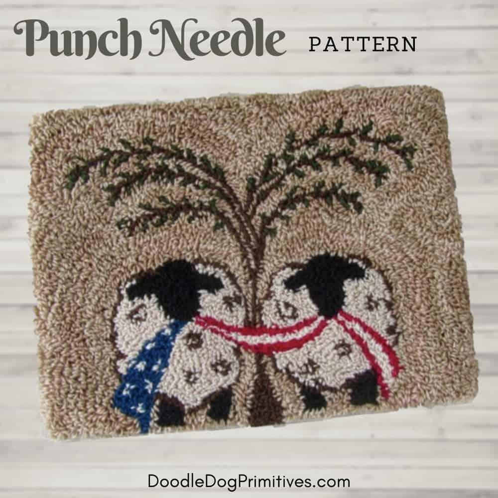 Liberty Lambs punch needle pattern