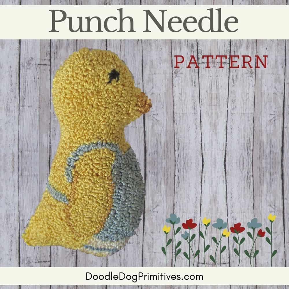 Mama Chick Punch Needle Pattern