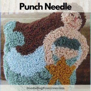 Mermaid punch needle pattern