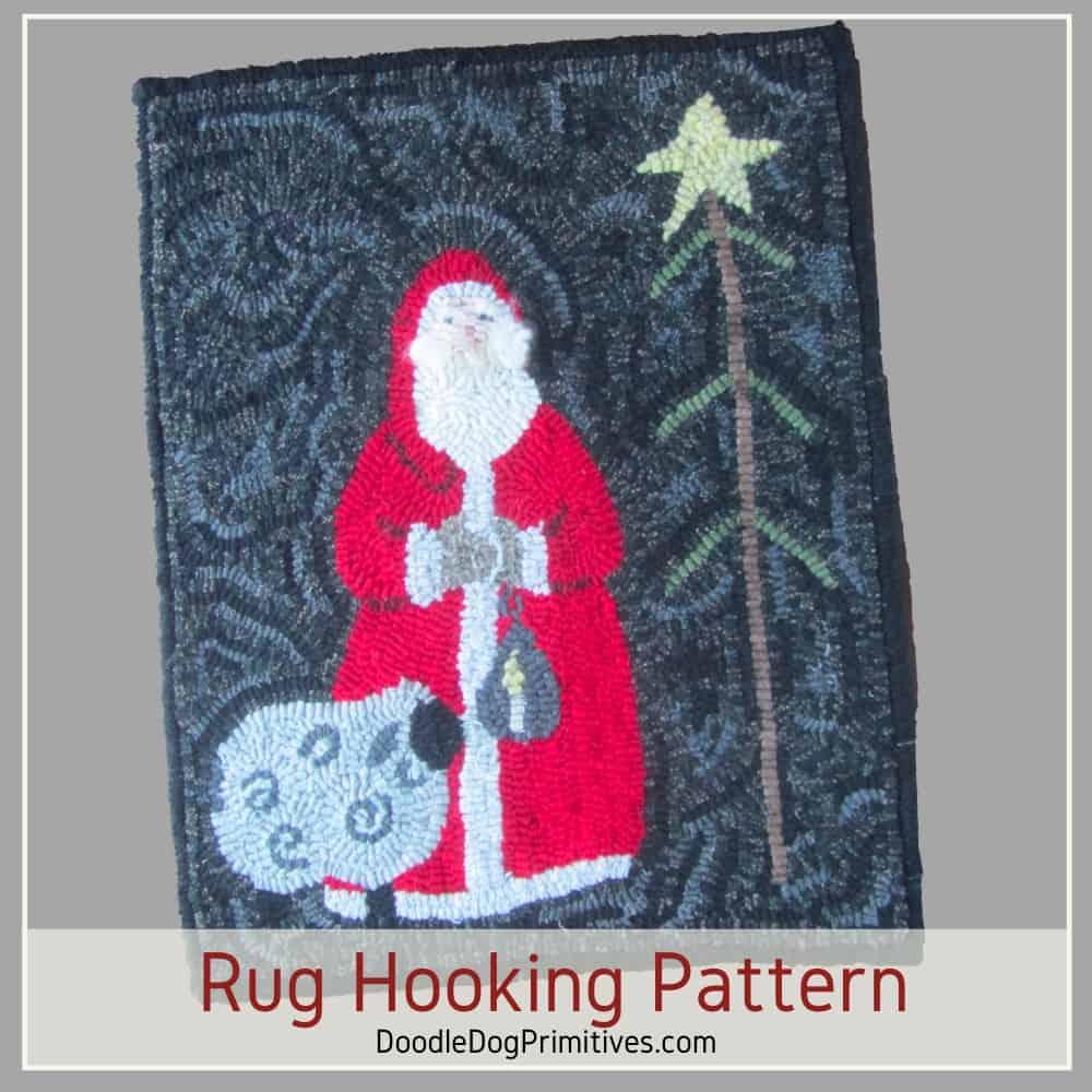 Santa Rug Hooking Pattern
