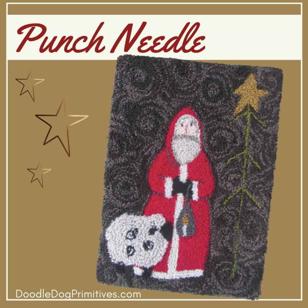 Midnight Clear punch needle pattern