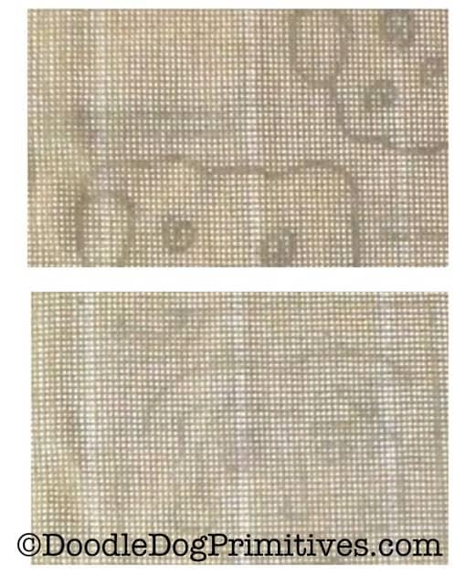 Patterns through monks cloth