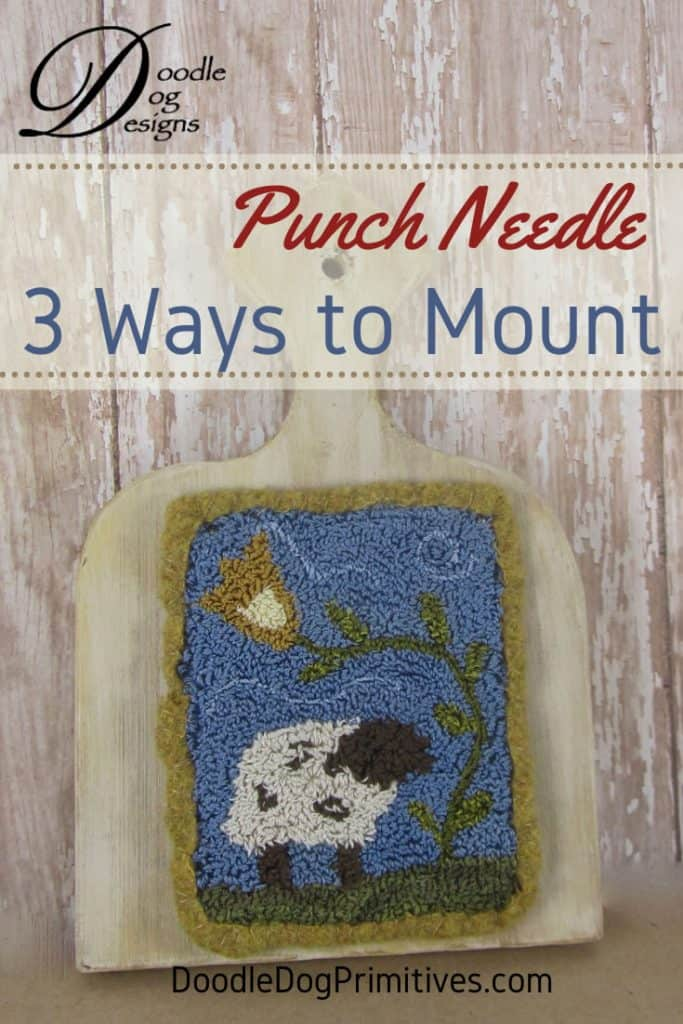How to mount punchneedle on a hornbook