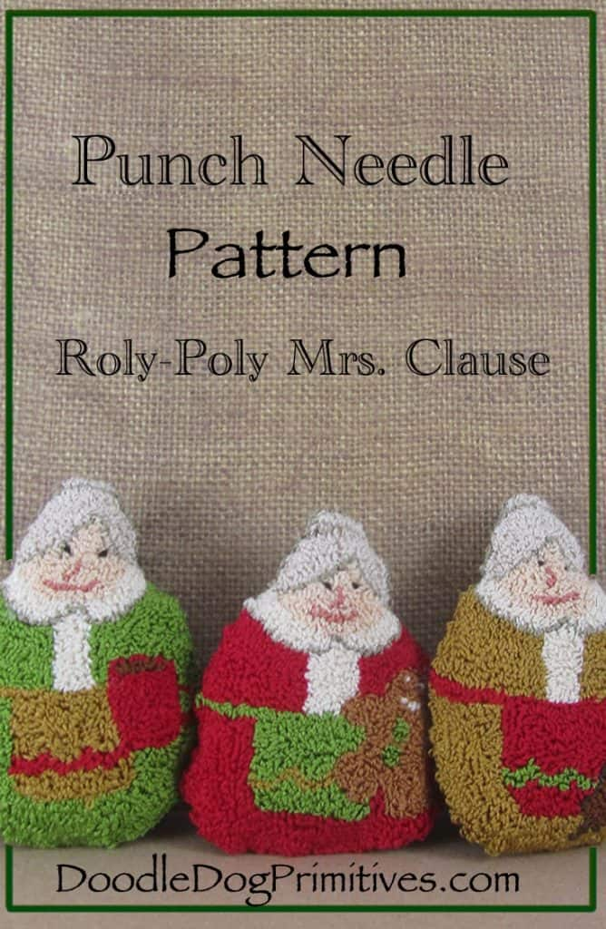 Roly Poly Mrs. Clause Punch Needle Pattern