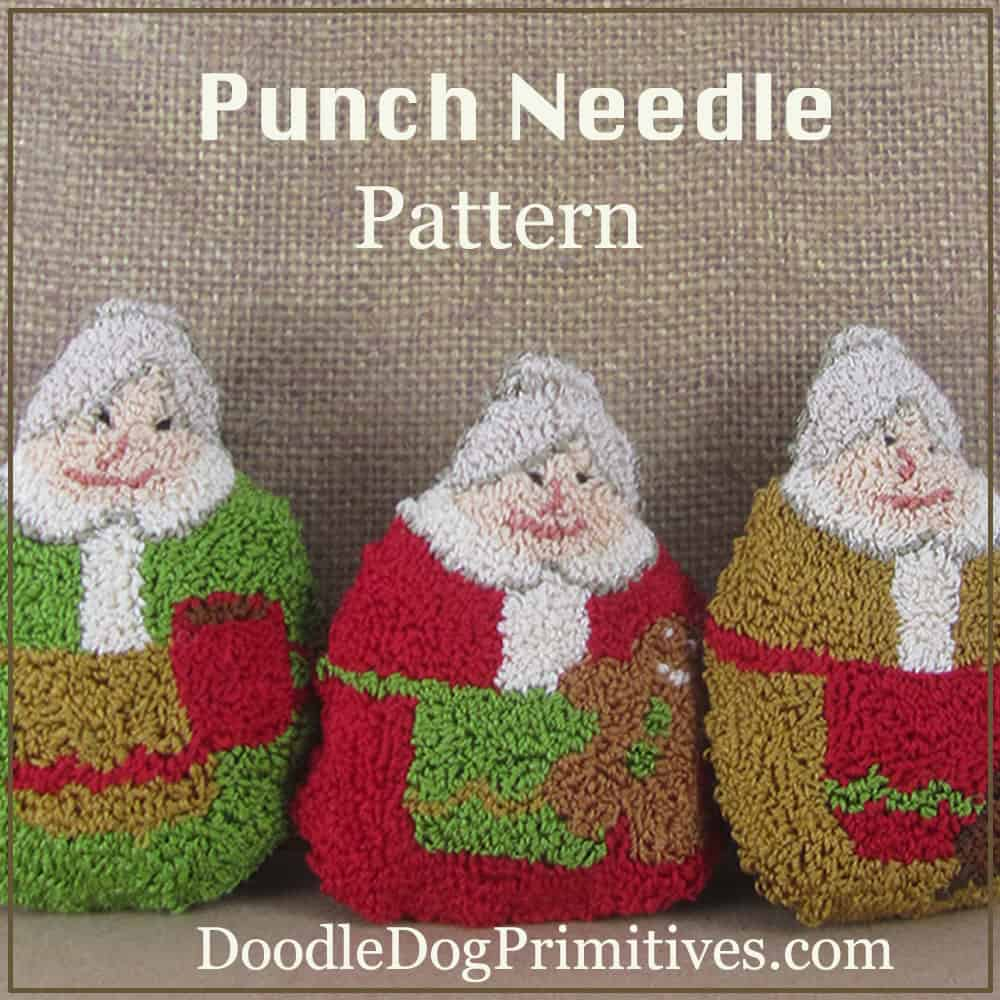 Mrs. Clause punch needle pattern