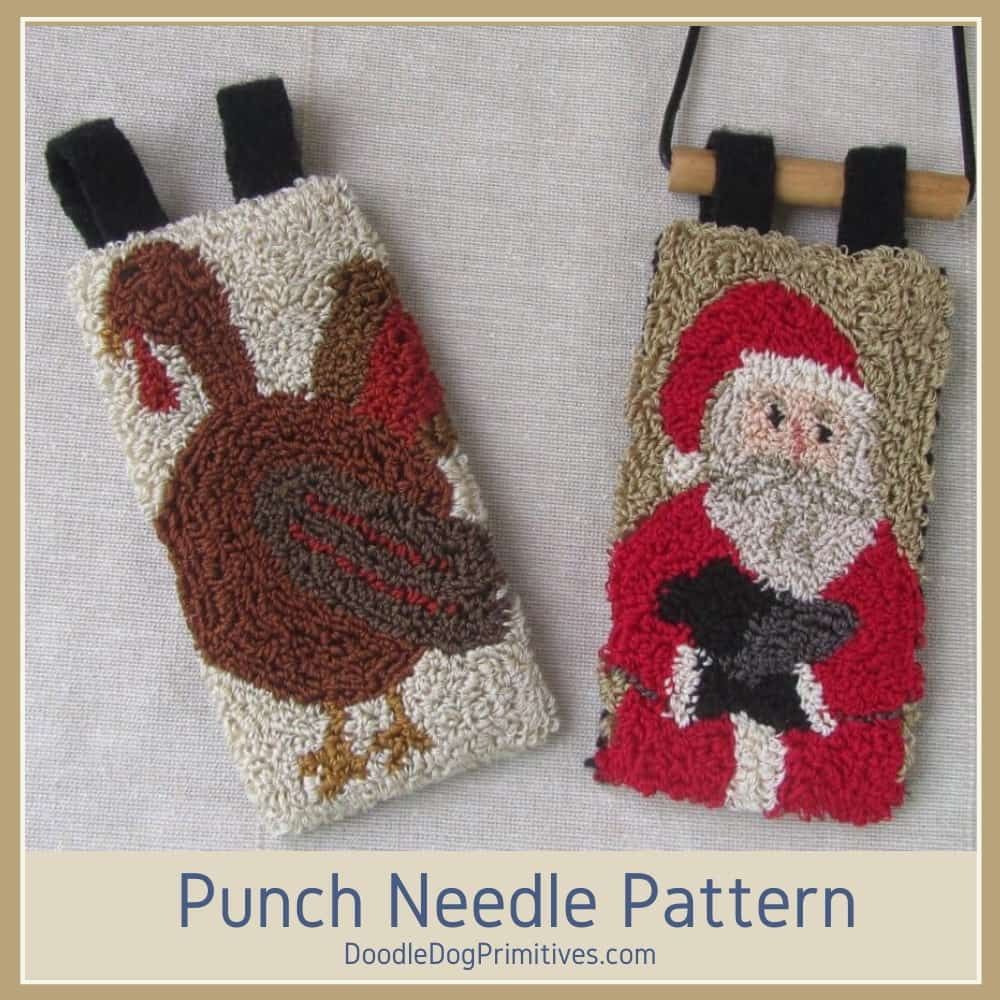 November & December punch needle banners