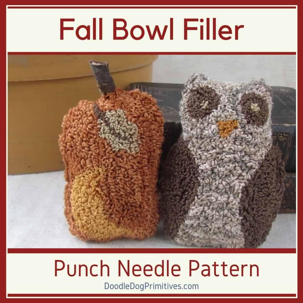 Owl & Pumpkin Punch Needle Pattern