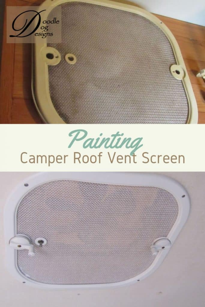Updating the Roof Vent Screens in our Vintage Camper