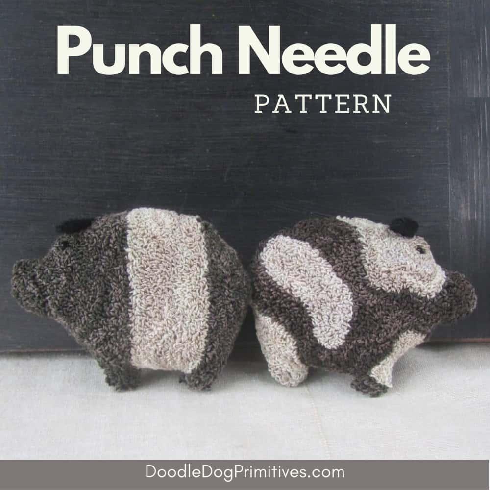 Pigs Punch Needle Pattern