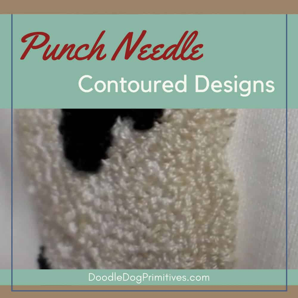 Adding Contour to a Punch Needle Project