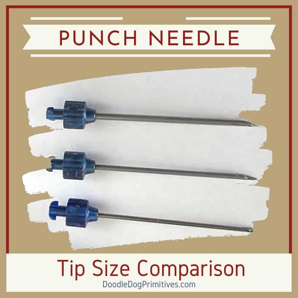 punch needle size comparison