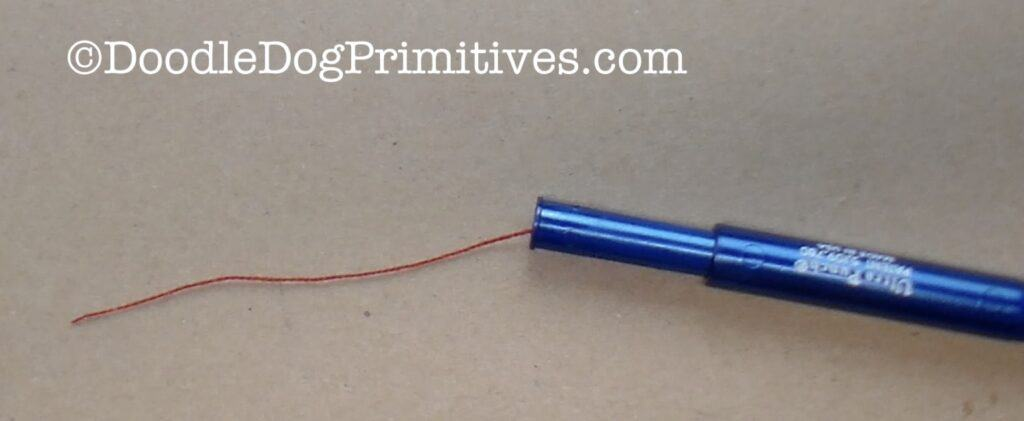 pull floss through punch needle
