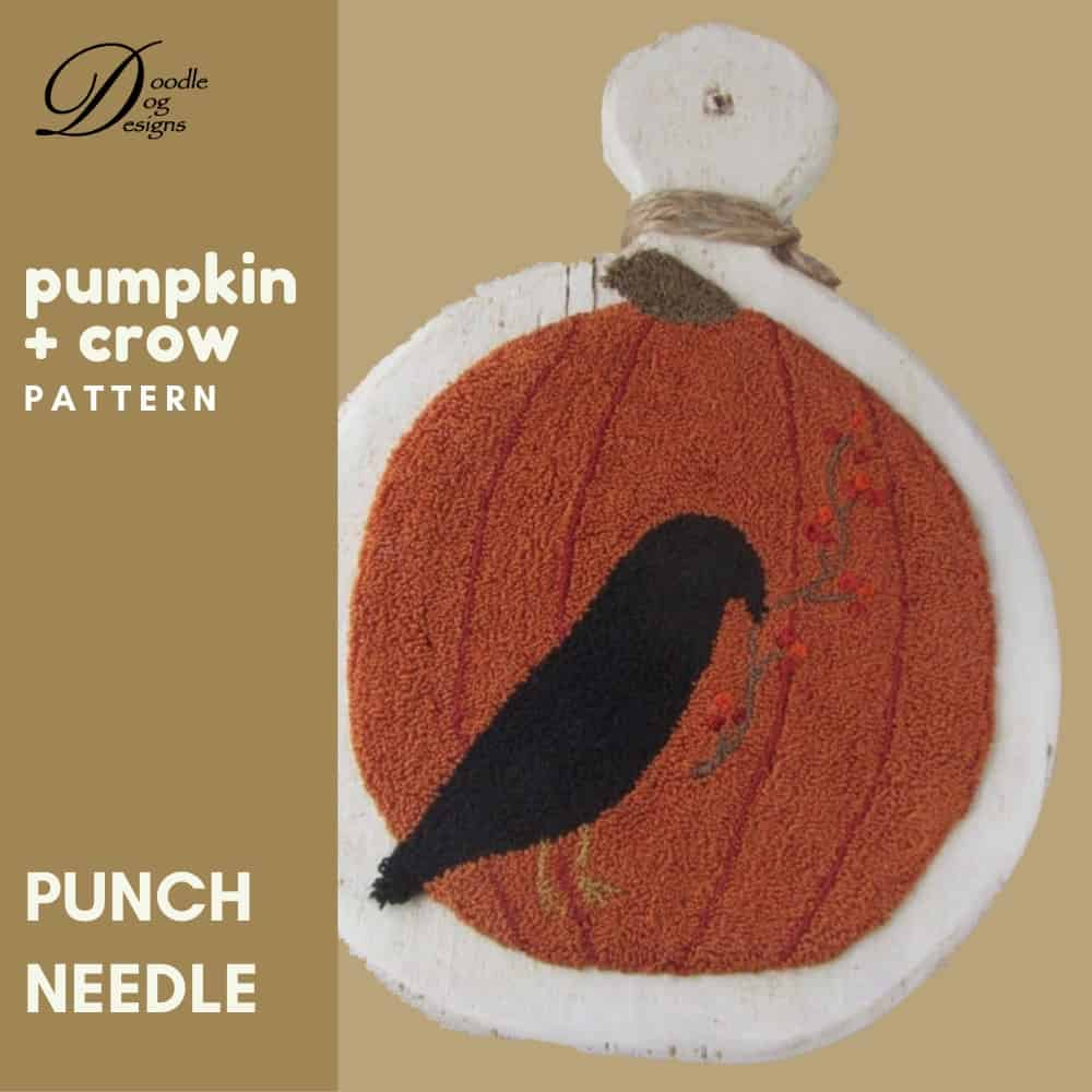 pumpkin and crow pattern