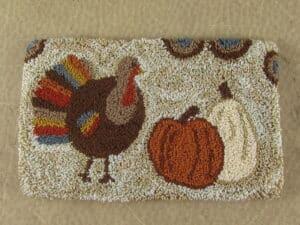 Turkey punch needle pattern