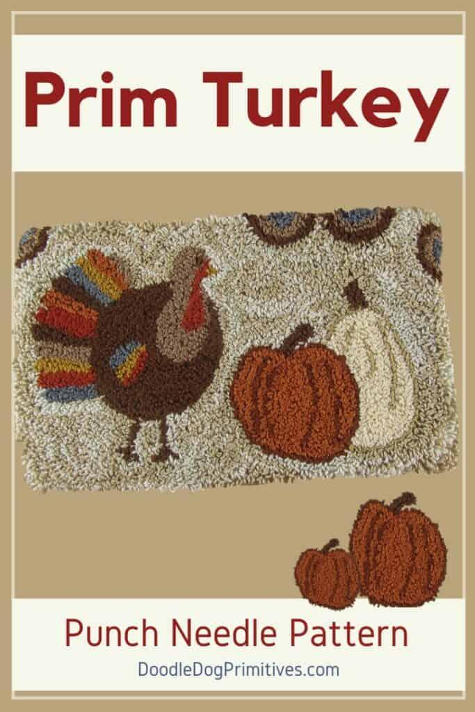 Primitive Turkey Punch Needle Pattern