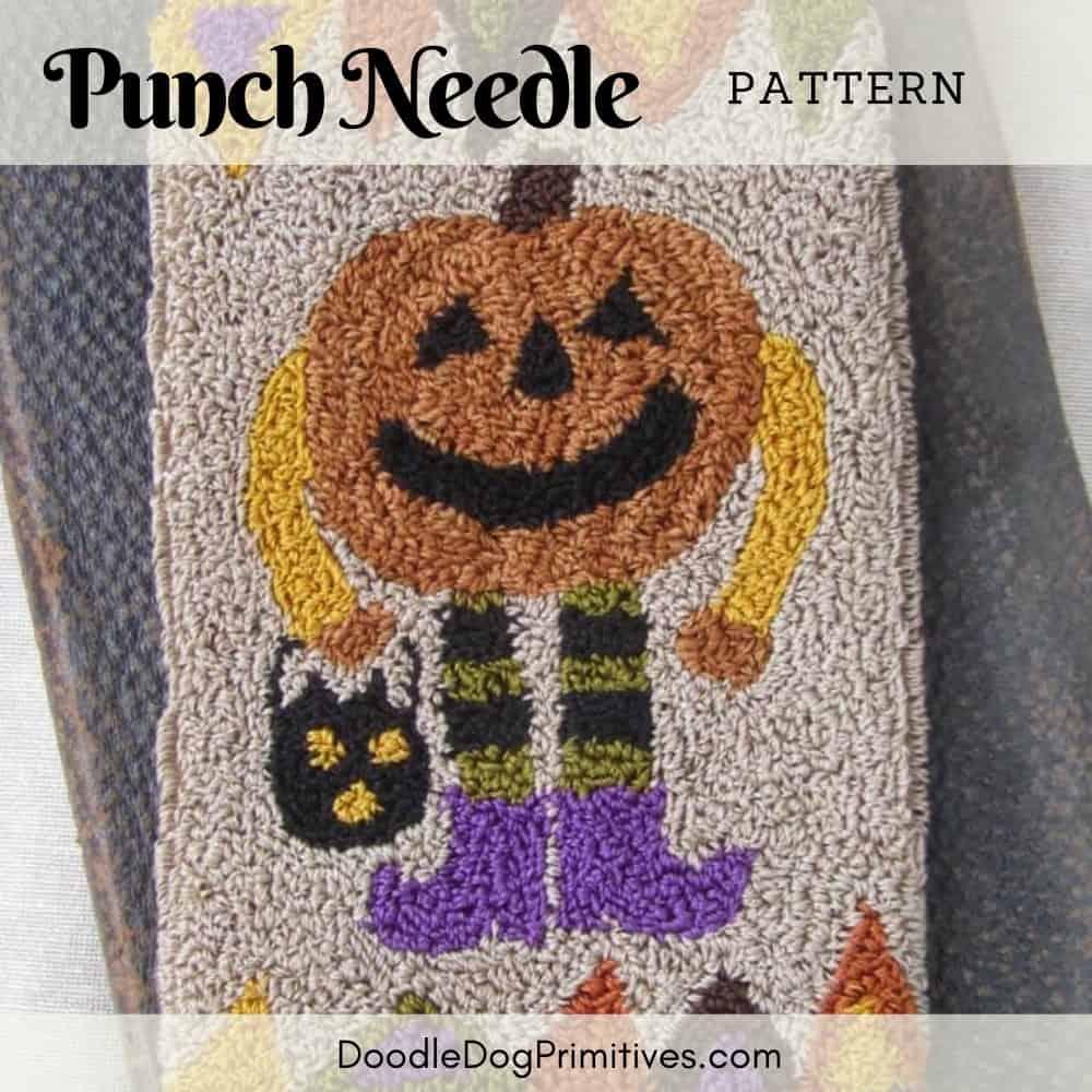 pumpkin man punch needle pattern