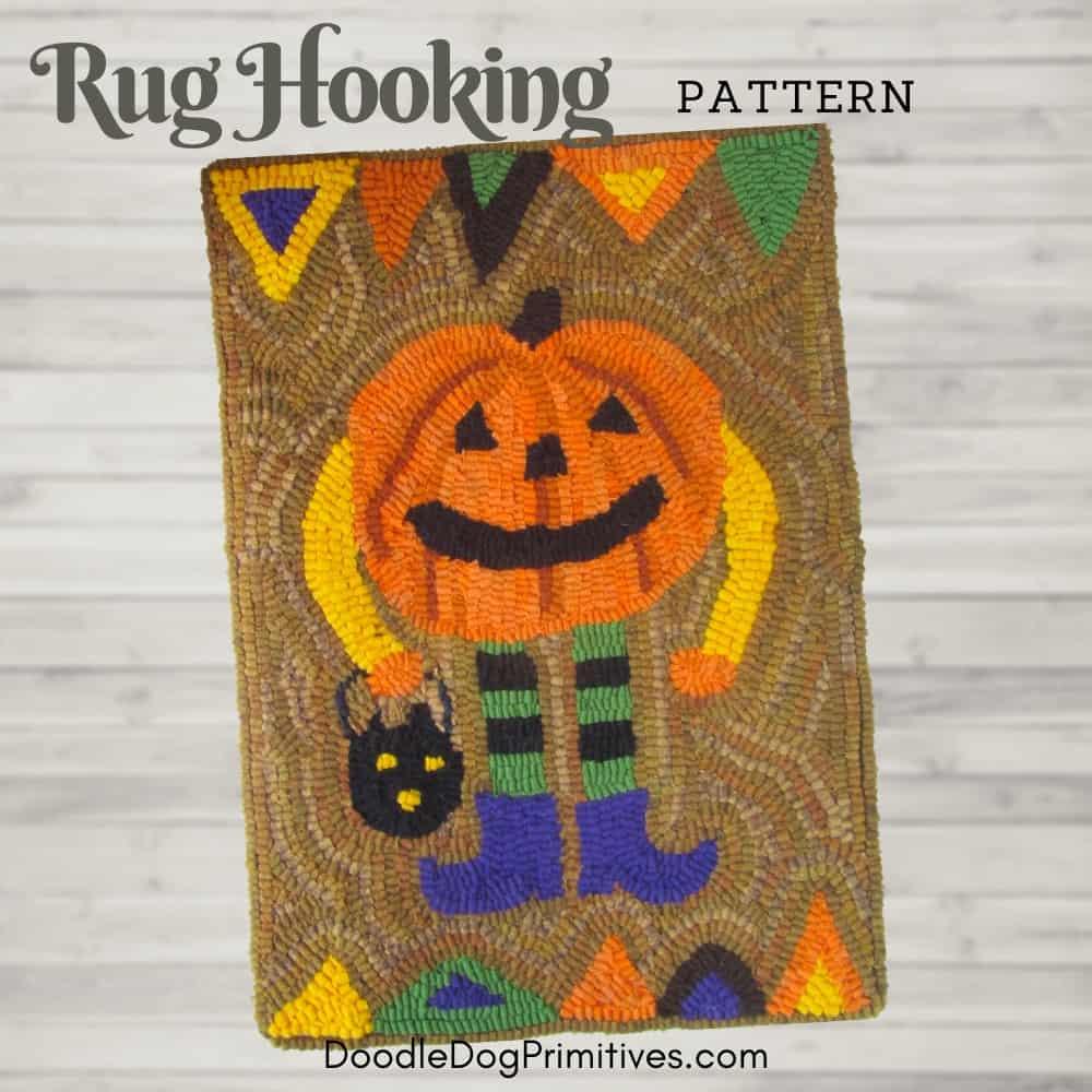 Pumpkin Man Rug Hooking Pattern