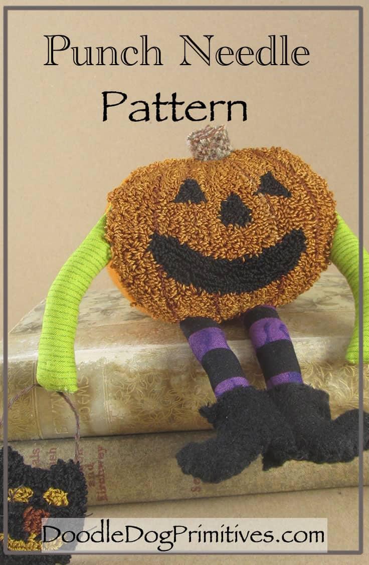 Pumpkin Man Punch Needle