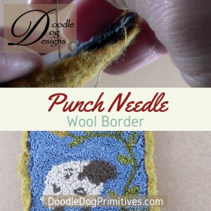 Adding a wool border to a punch needle project