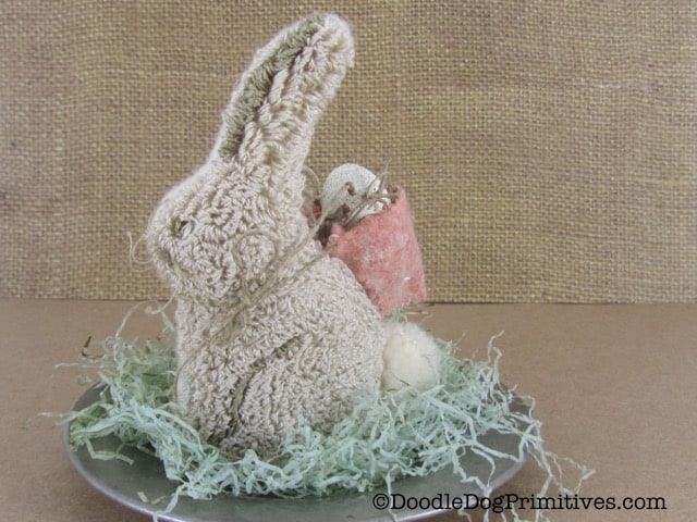 punch needle bunny