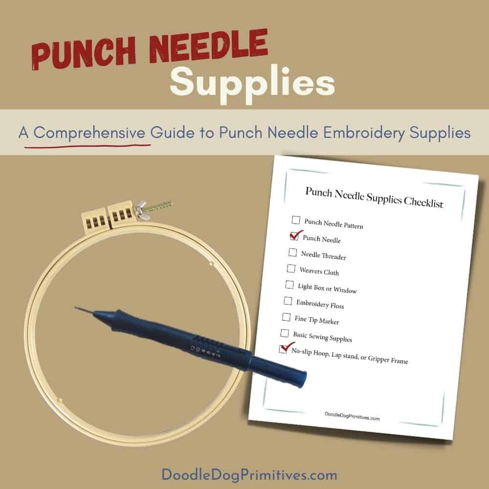 Beginner Punch Needle Supplies