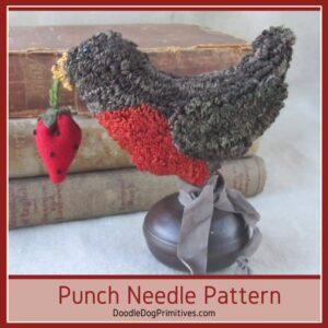 Robin make-do punch needle pattern