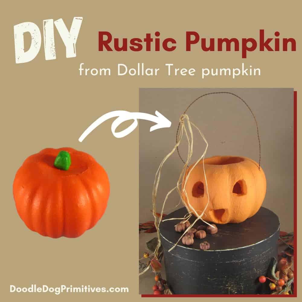 Rustic pumpkins DIY