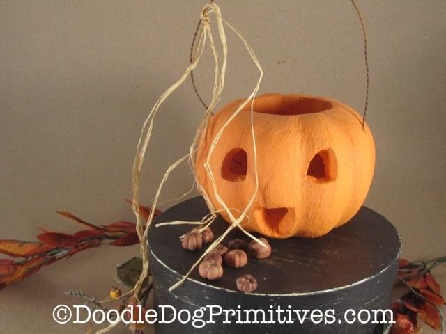 DIY Rustic Pumpkin Finished