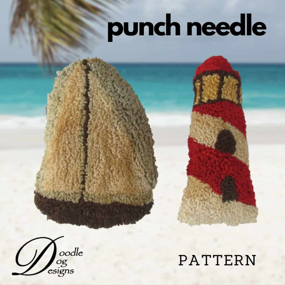 sailing time punch needle pattern