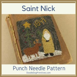 Saint Nick Punch Needle Pattern