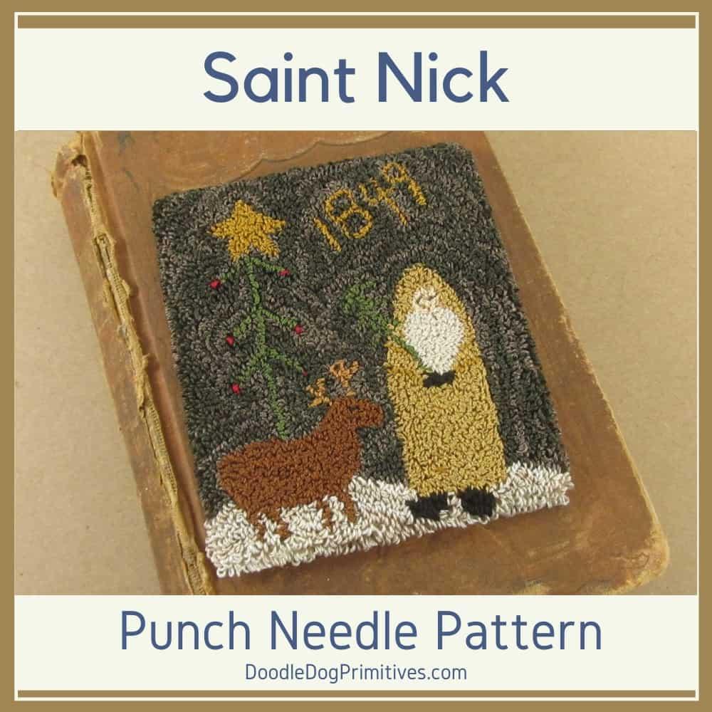 Saint Nick Punch Needle Pattern