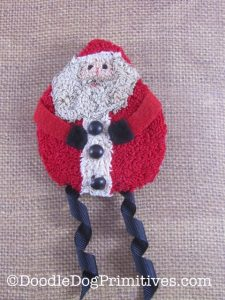 Punch Needle Santa Pin