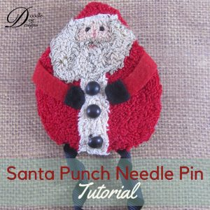 Punch Needle Santa Pin DIY