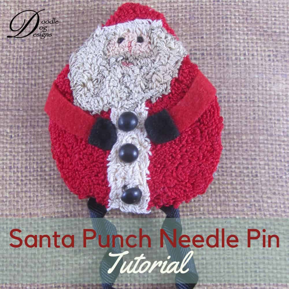 Punch Needle Santa Pin DIY