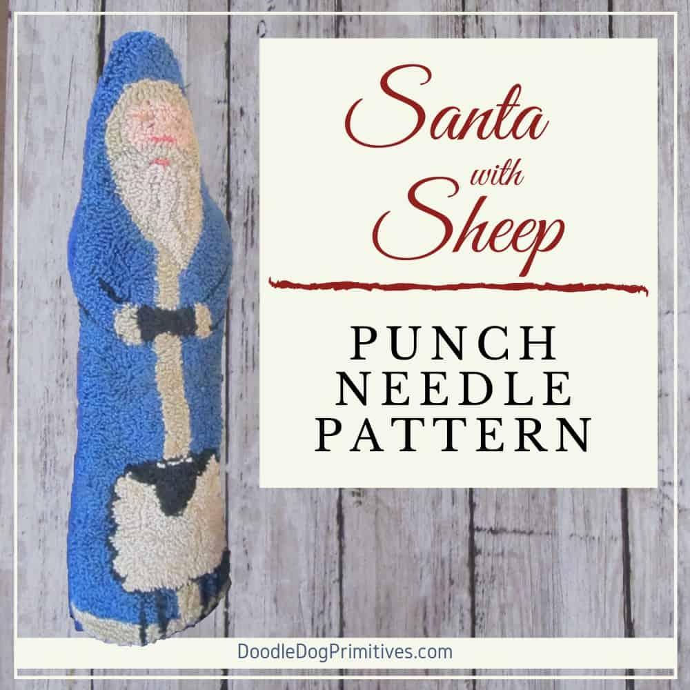 Santa & Sheep Punch Needle Pattern