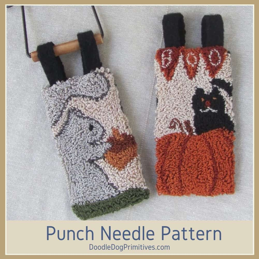 September & October punch needle banners