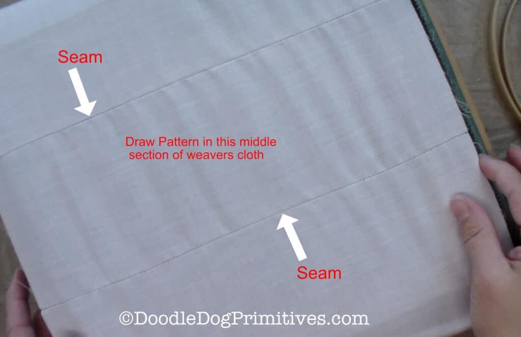 sew together weavers cloth