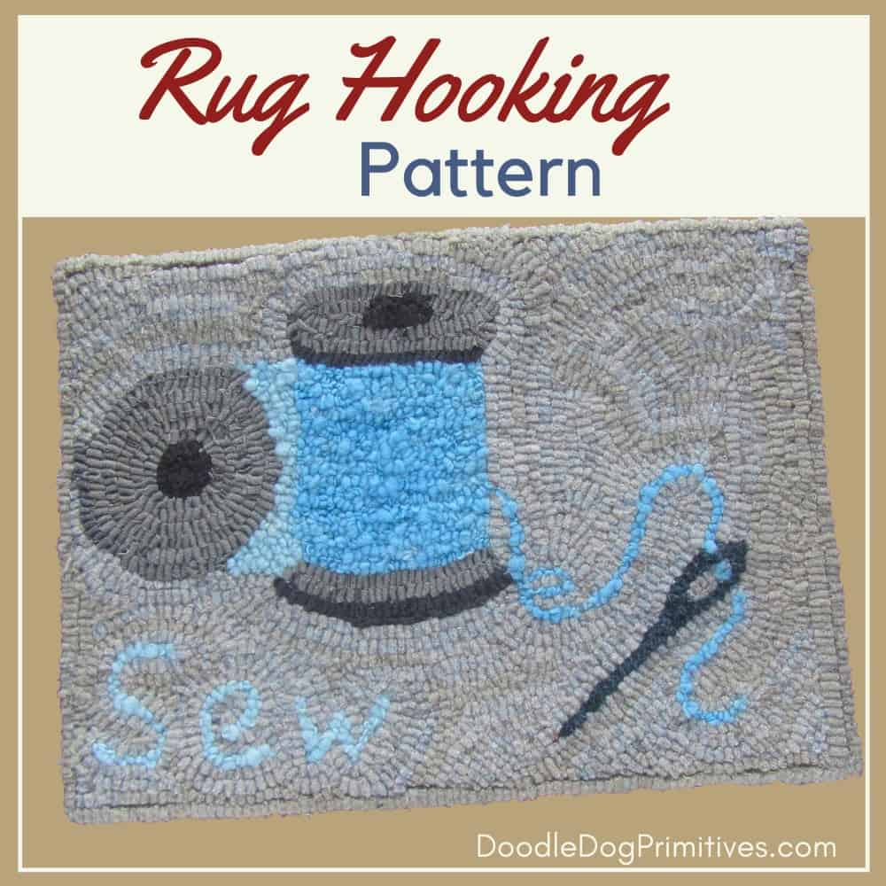 sewing notions rug hooking pattern