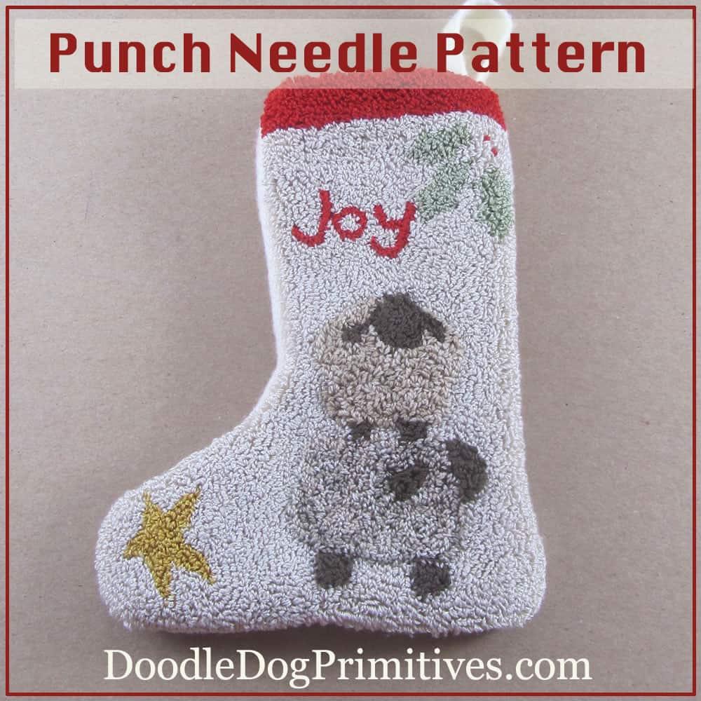Punch needle stocking