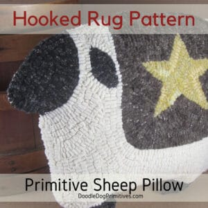 Sheep Pillow - Rug Hooking Pattern