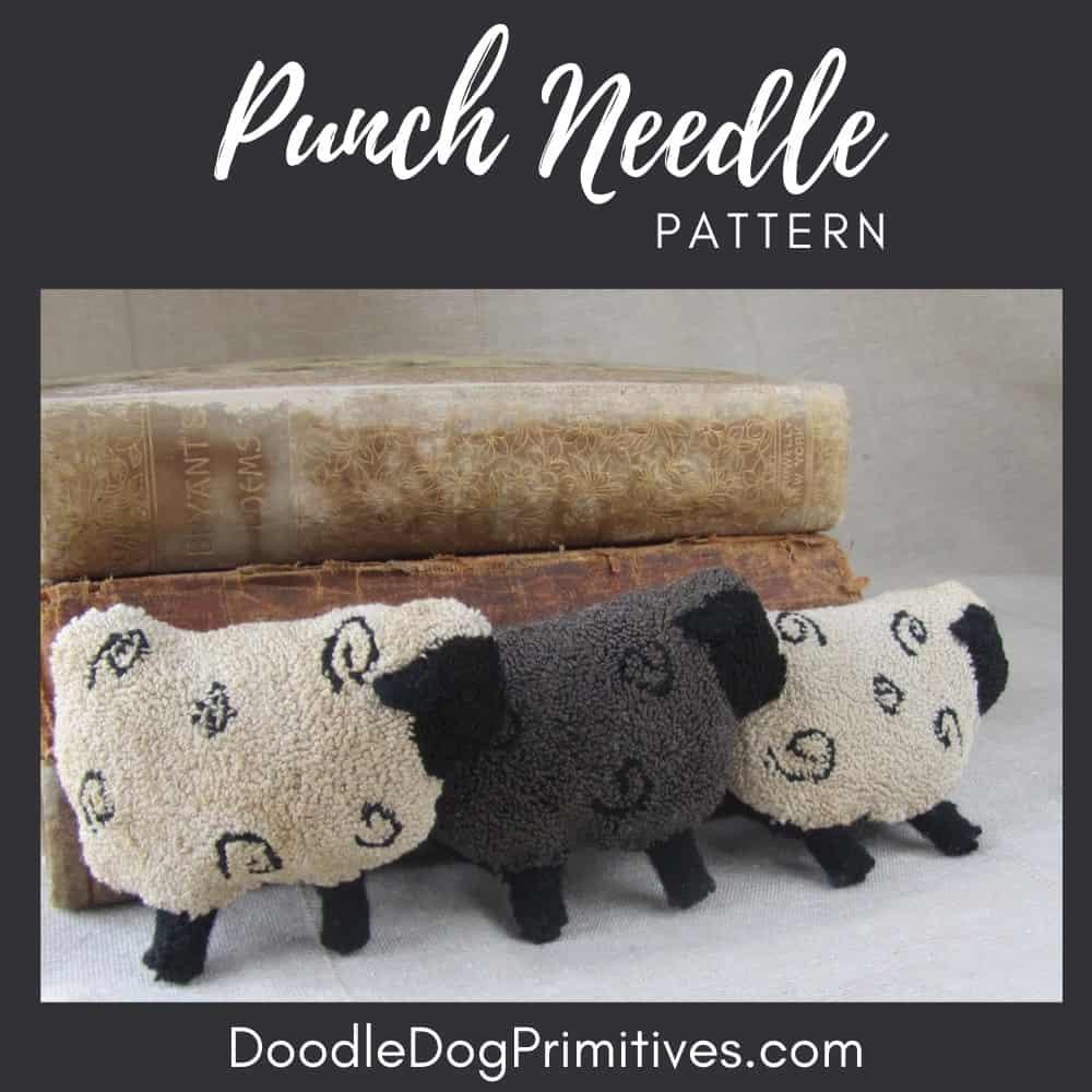 Sheep Punch Needle Pattern