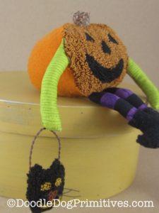 Side View of Pumpkin Man