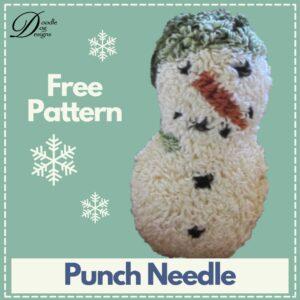 free punch needle snowman pattern