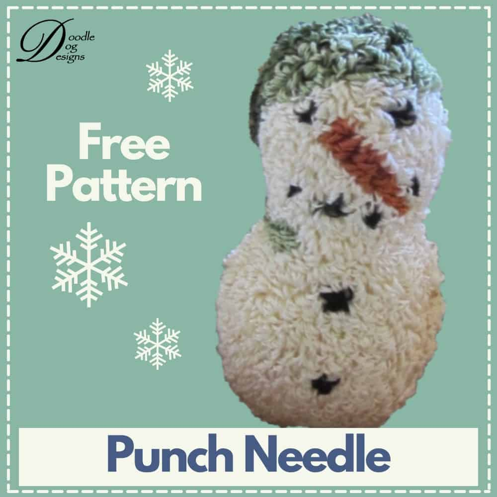 free punch needle snowman pattern