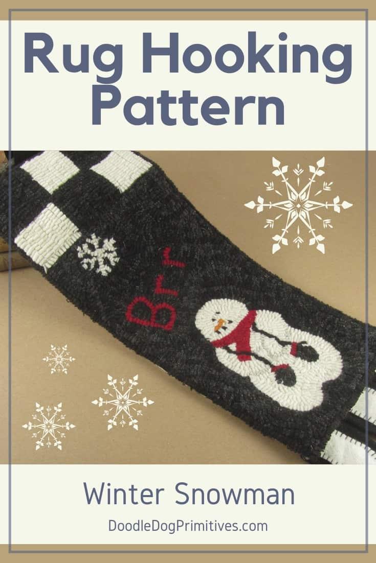 Snowman Hooked Rug Pattern