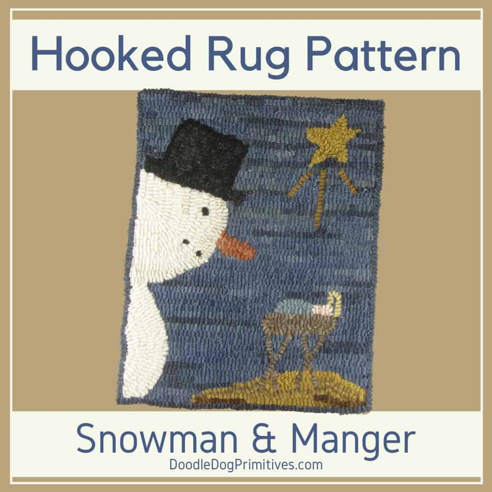 Christmas Rug Hooking Pattern